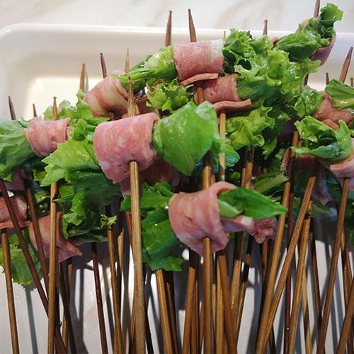 生菜培根卷
