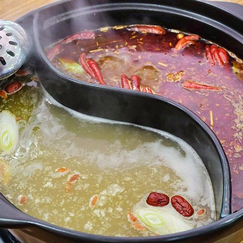 旋转小火锅汤底